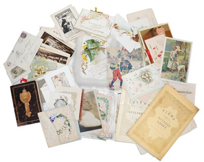 Lot 86 - A shoebox containing a selection of late...