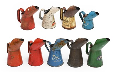 Lot 77 - Nine Vintage Oil Pourers, of assorted size, to...