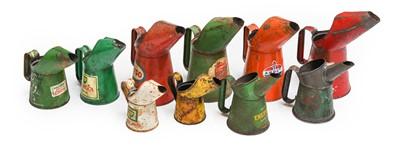 Lot 78 - Ten Vintage Metal Oil Pourers, of assorted...