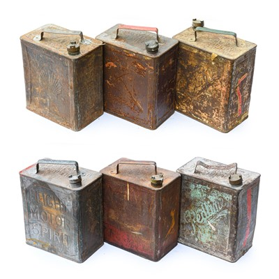 Lot 79 - Six Vintage 2-Gallon Fuel Cans, to include...