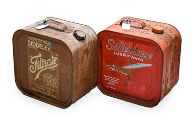 Lot 70 - A Vintage Silkolene Lubricants 5-Gallon Fuel...
