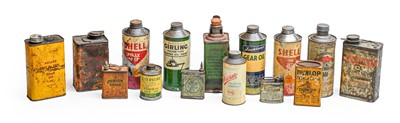 Lot 71 - Twelve Vintage Oil Canisters, to include Mobil...