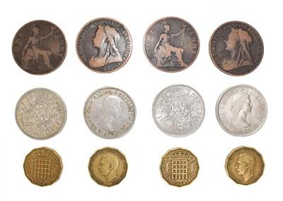 Lot 85 - A Quantity of UK Bronze Coins, pennies &...