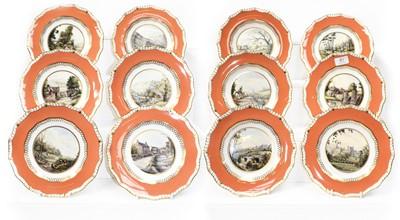 Lot 81 - A set of twelve Royal Crown Derby cabinet...