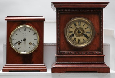 Lot 10 - A German striking mantel clock retailed by...
