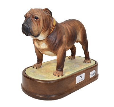 Lot 74 - Royal Worcester model The Bulldog, by Doris...