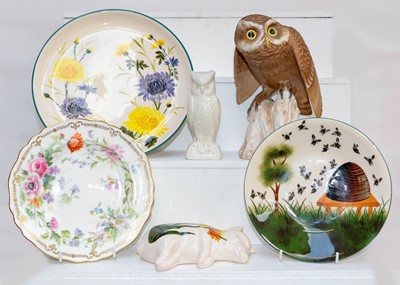Lot 42 - A Spode model Little Owl, together with a...