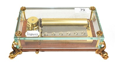 Lot 79 - A Reuge Swiss music box, 20th century,...