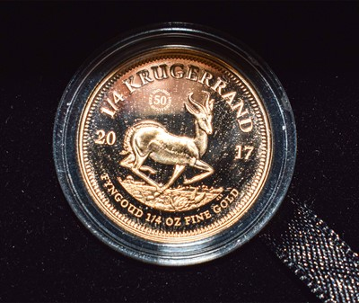 Lot 95 - South Africa, Gold Proof Quarter Ounce...