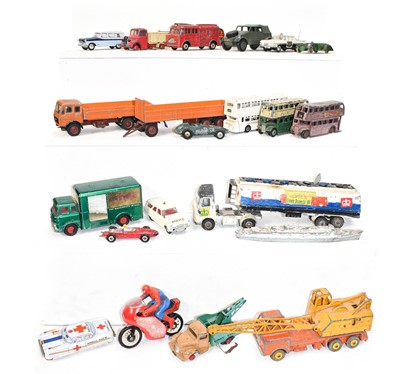 Lot 69 - A small quantity of playworn Dinky cars and...