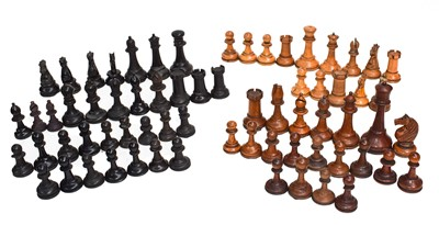 Lot 71 - A number of various Staunton style chess...