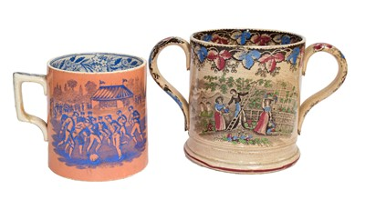 Lot 55 - A 19th century Staffordshire pottery tankard...