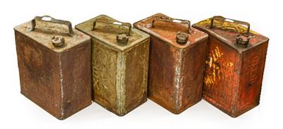 Lot 68 - Four Vintage 2-Gallon Fuel Cans, comprising...