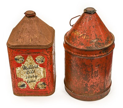 Lot 94 - A Millers Oil Every Time 5-Gallon Oil Can; and...