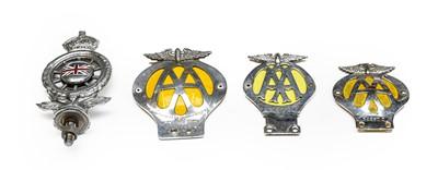 Lot 33 - A Vintage AA Car Bonnet Mascot, with enamelled...