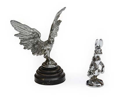 Lot 34 - A Chrome on Brass Hare Car Mascot, probably...