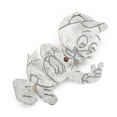 Lot 37 - An Aluminium Duck Radiator Grille Mascot, as a...
