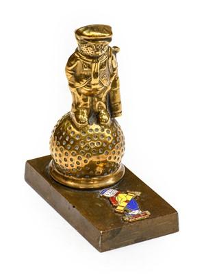 Lot 38 - A Solid Brass Golfer Car Radiator Mascot,...