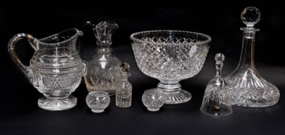 Lot 49 - A quantity of cut glassware including a footed...