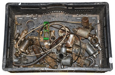 Lot 65 - Vintage Carbs including Amal sold as found