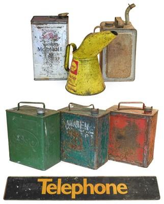 Lot 83 - Three Vintage 2-Gallon Fuel Cans, comprising...