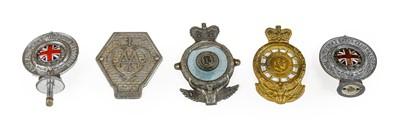 Lot 49 - A 1920/30 AA Car Badge: Three Chromed RAC...