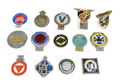 Lot 10 - Fourteen Chromed Metal Car Badges, to include...