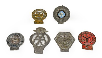 Lot 40 - Six Early 20th Century Car Badges, to include...