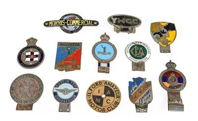 Lot 41 - Twelve 1920/30 and Later Chromed Car Badges,...