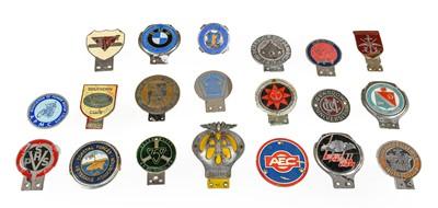 Lot 42 - Twenty Chromed Metal and Plastic Car Badges,...