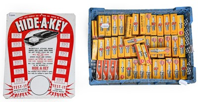 Lot 84 - Hide-A-Key: A Single-Sided Enamel Sign; and A...