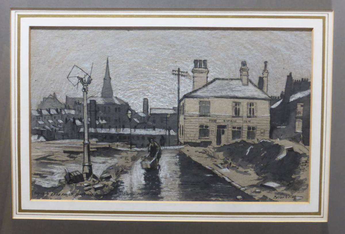 Lot 2090 - Brian Nolan (b.1931) 'Swansong Eliza Ann St., James Hole Collyhurst, Manchester'  Signed, inscribed