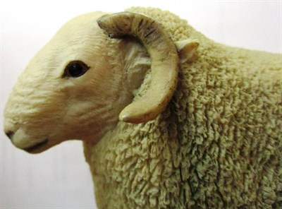 Lot 14 - ^ Border Fine Arts 'Cheviot Ram', model No. L39 by Ray Ayres, limited edition 179/850, on wood base