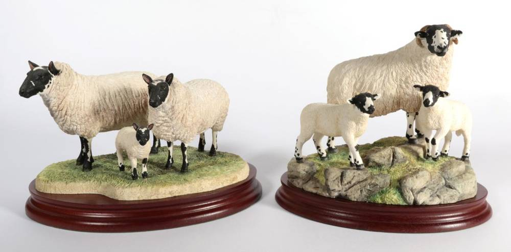Lot 23 - ^ Border Fine Arts 'Rough Fell Ewe and Lambs', model No. B1541 by Ray Ayres, limited edition...