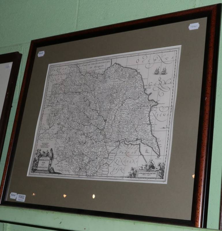 Lot 1002 - ~ Valk and Schenk 'Ducatus Eboracensis Anglice Yorkshire', uncoloured map, 38cm by 50cm