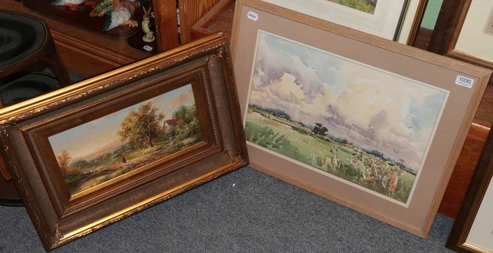 Lot 1030 - Angus Rands (1922-1985) Landscape, signed, watercolour, 33cm by 49cm; together with J....