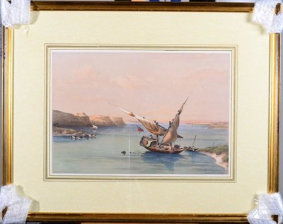 Lot 2 - After David Roberts RA (1796-1864) ''Approach to the fortress at Ibrim'' ''The Rock of the...