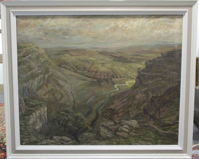 Lot 4 - Constance-Anne Parker (1921-2016) Gordale Scar Signed and dated 1955, oil on canvas, with a further