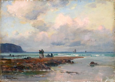 Lot 10 - Owen Bowen ROI, PRCamA (1873-1967) ''Clearing after Rain'' Signed, with inscribed label verso,...