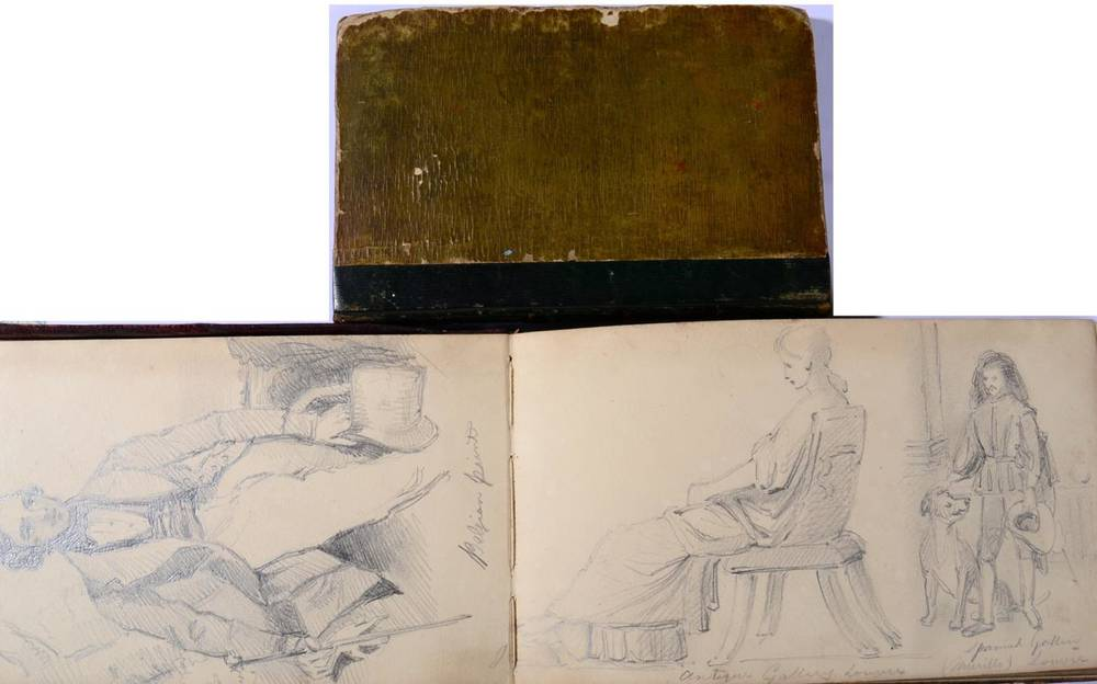 Lot 31 - Samuel Bellin (1799-1894) A pair of sketch books with various studies One signed and dated. 17cm by