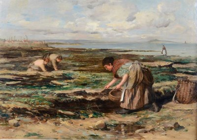 Lot 33 - William Marshall Brown (1863-1936) Gathering Cockles  Signed and dated 1902, oil on board, 52cm...