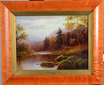 Lot 38 - William Mellor (1851-1931) ''On the Lledr, North Wales'' ''On the Llugwy'' Signed, oil on...