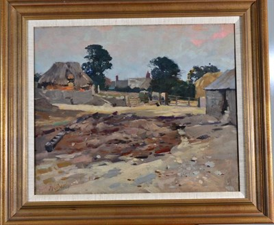 Lot 43 - James William Booth RcamA (1867-1953) Thorpes Farm, Scalby Signed, inscribed and initialled...