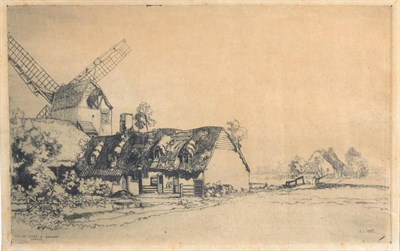 Lot 45 - Frederick (Fred) Cecil Jones RBA (1891-1966) ''A Dark Day in the West Riding of Yorkshire''...
