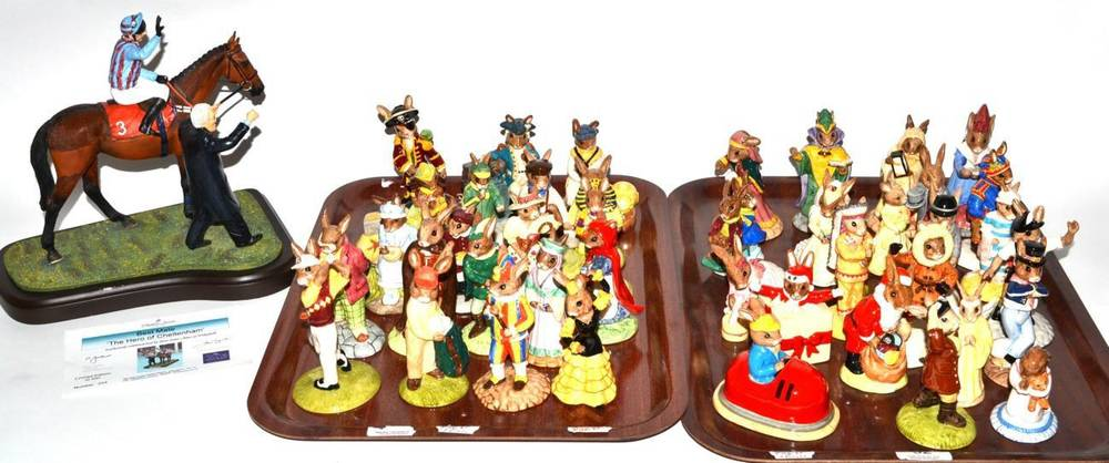 Lot 32 - A large group of Royal Doulton Bunnykins figures including limited editions ''Mermaid'';...