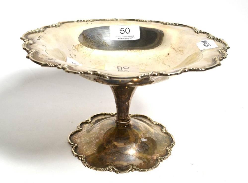 Lot 50 - A silver pedestal dish