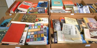 Lot 1031 - Twenty-nine boxes of books, mostly paperback and hardback novels, together with a small number...
