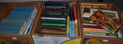 Lot 1035 - Eleven boxes of books, predominantly Roman, Greek, Archaeological; and other historical...
