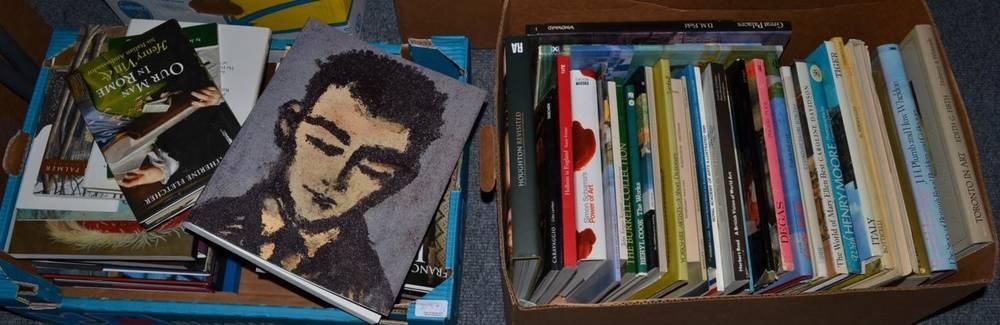 Lot 1037 - Three boxes of books, principally on art (quantity)