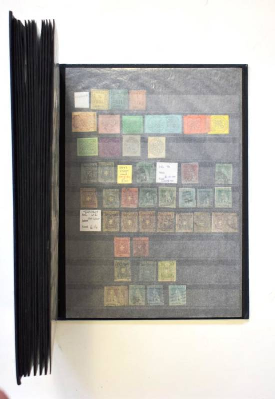 Lot 8 - Interesting GB and World Collection - With GB 1d black, quantity of perf and imperf 2d blues,...